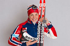 Astrid Uhrenholdt Jacobsen med sølvmedaljen fra 15 km skiathlon i Falun-VM 2015. Foto: NordicFocus.