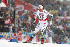Charlotte Kalla på vei mot et suverent VM-gull på 10 kilometer fristil i Falun 2015. Foto: NordicFocus.