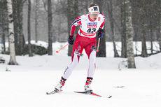 Astrid Uhrenholdt Jacobsen ute på 10-kilometeren i fri teknikk under VM i Falun 2015. Foto: NordicFocus.