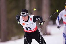 Dario Cologna underveis på 15 km fri under VM i Falun 2015, der han endte på 18.-plass. Foto: NordicFocus.
