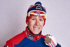Anders Gløersen med bronsemedaljen på 15 km fristil fra Falun-VM 2015. Foto: NordicFocus.