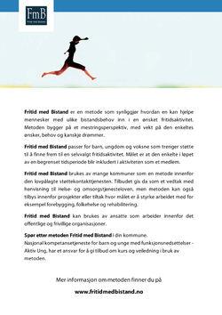 Bilde av brosjyren for Fritid med Bistand