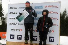 Barbro Kvåle på toppen av seierspallen etter Montebellorennet 2015. Arrangørfoto.