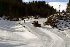 Løypene på Jervskogen Skisenter i Hommelvik prepareres til Junior-NM 2015. Foto: Hommelvik IL.