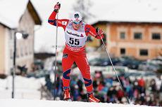 Snorri Einarsson under tredje etappe av Tour de Ski 2012/2013, sprinten i Val Müstair. Foto: Felgenhauer/NordicFocus.