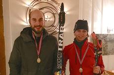 Hans Christian Aarnes og Kari Øvsthus holdt høyest fart gjennom løypa under bedrifts-KM for Oslo i 2015-utgaven. Arrangørfoto.