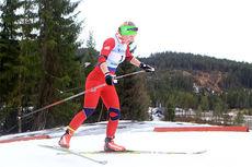 Elise Røer Drabløs er med og sikrer Akershus stafettseier under Junior-NM 2015 i Hommelvik. Nå er hun blant de påmeldte til Meråkerrennet 2015. Foto: Erik Borg.