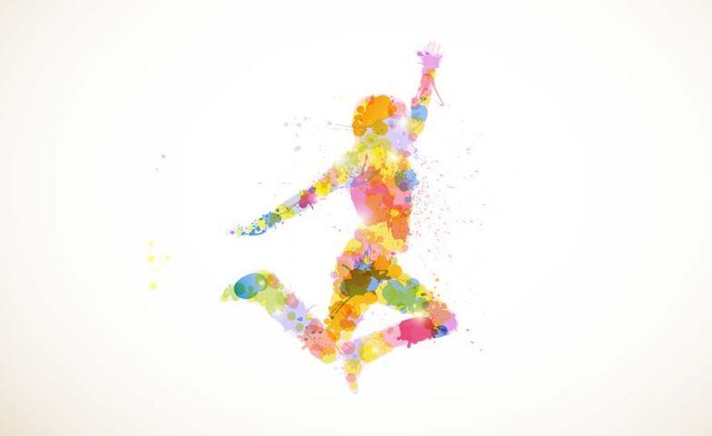 Illustrasjon av kvinne i aktivitet, lag og foreninger