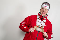 Tarjei Bø med medaljefangsten fra VM i Kontiolahti 2015. Totalt 5 medaljer, 4 bronse og 1 sølv. Foto: NordicFocus.