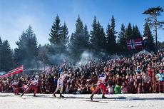 Fra verdenscup-femmila i Holmenkollen 2015. Foto: Laiho/NordicFocus.