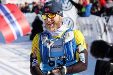 Martin Johnsrud Sundby etter sin 2. plass i Birken og Birkebeinerrennet 2015. Foto: Geir Nilsen/Langrenn.com.
