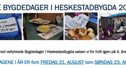 Info -  bygdedager i Heskestadbygda- 2015