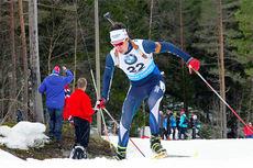 Bjarte Solvang på vei mot NM-gull og kongepokal under sprinten i Sirdal 2015. Foto: Frank og Simen Haughom.