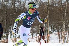 Marit Bjørgen på vei mot bronse i 5-kilometeren under NM i Harstad 2015. Foto: Erik Borg.