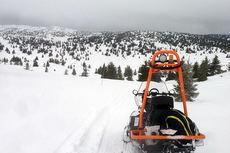 Den nye scooter-traséen Toppturløypa på Hafjell tar deg over to topper på mer enn 1000 meters høyde. Foto: Mosetertoppen.