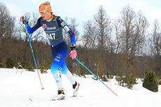 Martine Ek Hagen ute på sin 30-kilometer klassisk under NM i Harstad 2015. Det endte med sølvmedalje. Foto: Erik Borg.