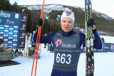 EIrik Brandsdal jubler for gull på femmila under NM i Harstad 2015. Foto: Erik Borg.