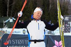 Eirik Brandsdal kunne juble for gull på femmila under NM i Harstad 2015. Foto: Erik Borg.
