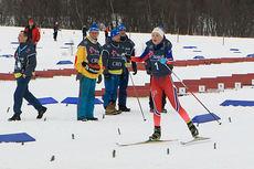Martine Lorgen Øvrebust inn til seier i NC-finalen for kvinner 18 år i Harstad. Foto: Erik Borg.