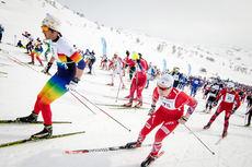 Starten i Haukelirennet forrige vinter. Foto: Magnus Tjønn.