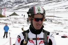 Lars Berger foran start i Galdhøpiggrennet 2015 - NM i Randonee. Skjermdump fra Youtube.