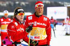 Tor-Arne Hetland er ny landslagstrener for Norge. Her fra hans tid som trener for det sveitsiske landslaget, sammen med Laurien Van der Graaff. Foto: Laiho/NordicFocus.