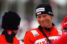 Tor-Arne Hetland i sin funksjon som sveitsisk landslagstrener under verdenscupen i Rogla. Foto: Laiho/NordicFocus.