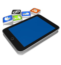 App på nettbrett og telefon