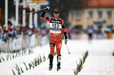 Anders Södergren i mål til 20.-plass i Vasaloppet 2015. Foto: Felgenhauer/NordicFocus.