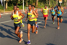 Illustrasjonsbilde fra Dubai Marathon. Arrangørfoto.