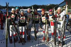 Lyn Ski-løpere i forbindelse med Holmenkollmarsjen. Foto: Privat.
