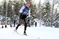 Mårten Soleng Skinstad i aksjon under Norgescupen for junior på Lygna 2015. Foto: Erik Borg.