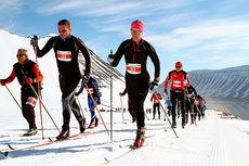 Fra en 2014-utgaven av Fossavatn Ski Marathon. Arrangørfoto.