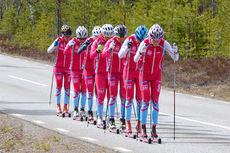 TEAM SkiProAm på treningssamling i Idre Fjäll 13.-17. mai 2015. Foto: Team SkiProAm.