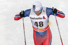 Petter Northug gikk inn til 10.-plass på blanke ski i den klassiske 15-kilometeren under verdenscupen i Davos i desember 2014. Foto: Rauschendorfer/NordicFocus.