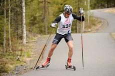 Morten Eide Pedersen på vei mot seier i Vårcup Lillehammer 2015. Foto: Anders B. Hennum.