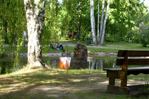 Illustrasjonsbilde fra en post i sprintorientering. Foto: Geir Nilsen/Langrenn.com.