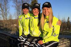 Jentene i Team Coop Talent samlet på Beitostølen i juni 2015. Foto: Team Coop Talent/Lillehammer Skiklub.
