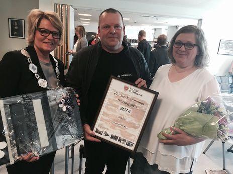 Næringspris 2014 til Gitte og Ole Dahl + ordfører Siv Anita Johnsen Brekke