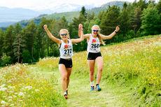 Glade og spreke deltakere ved SKIsports sommerskiskole. Foto: Eirik Lund Røer/SKIsport.