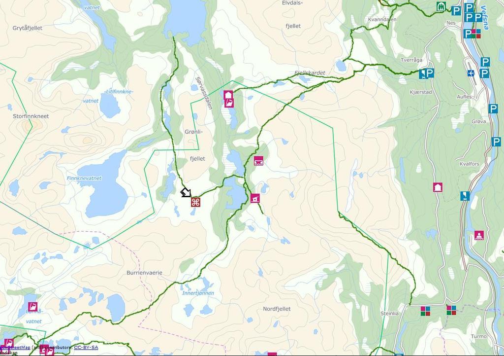 avstand kart norge Norges midtpunkt   Turkart Helgeland avstand kart norge