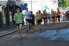 Eirik Mysen i front under Kristinaløpet 2015. Mysen vant 5-kilometeren. Foto: Sturla Mysen.