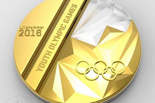 Medaljenes design til Ungdoms-OL Lillehammer 2016.