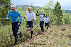 Team Exspirit på samling i Vålådalen i juni 2015. Teamfoto.