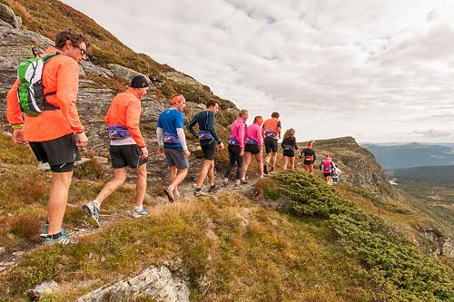 Utøvere fra Team Veidekke Innlandet trener i området hvor SkeiCamp arrangeres. Foto: Skeikampen Resort.