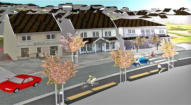 Illustrasjonsbilde ny miljøgate i Evje sentrum