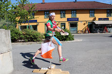 Heidi Mårtensson under et VM-uttaksløp i Vikersund 2015. Foto: Hans L. Werp.