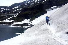 Rallarvegen byr på noen ekstra utfordringer for de som skal løpe den i år. Foto: Finse 1222.