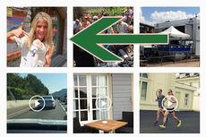 Therese Johaug viser frem sin håndskade til TV 2 Sporten. Foto: TV 2 Sporten / Instagram.