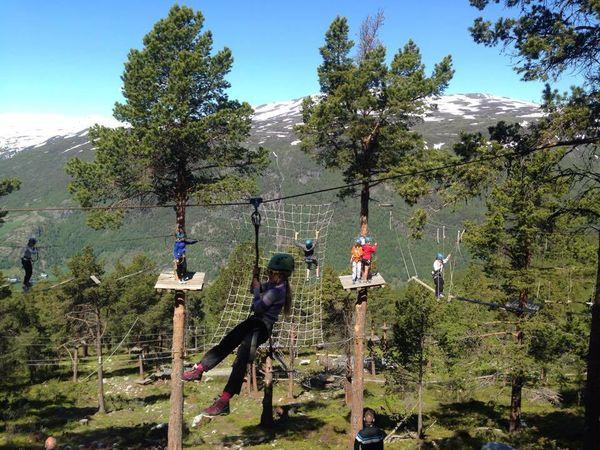 Full aktivitet i klatreparken